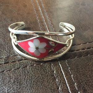Jewelry - Vintage Abalone Shell Cuff Bracelet